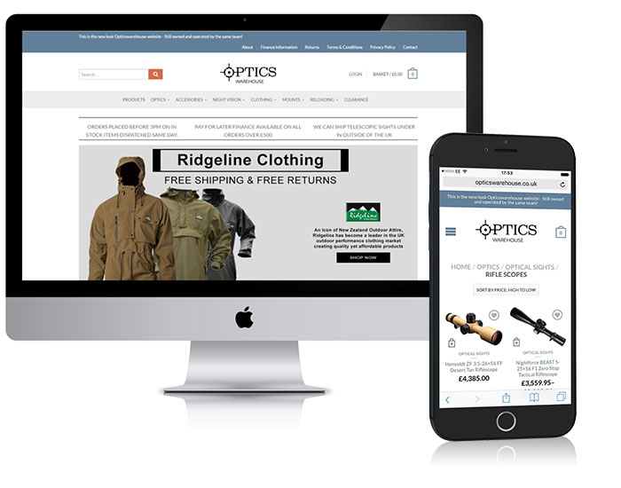 web design optics warehouse